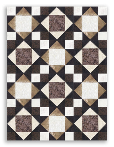 RJR Jinny Beyer Pre-Cut 12 Block King's Crown Quilt Kit - Miyako 2