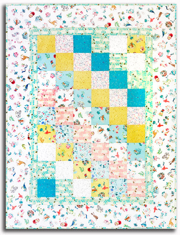 "My Imagination Charm Squares Baby Quilt Kit - Includes Pre-cut 5"" Charms"