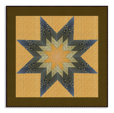 Moda Civil War Lone Star Jelly Roll Quilt Kit - New Hope Navy