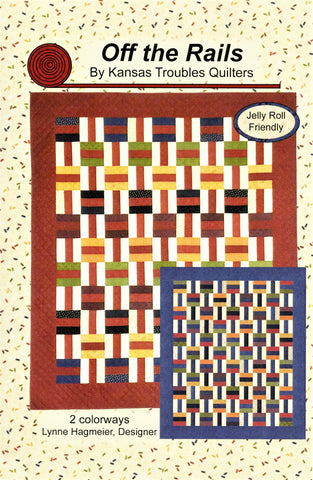OFF THE RAILS - Kansas Troubles Quilters' Pattern