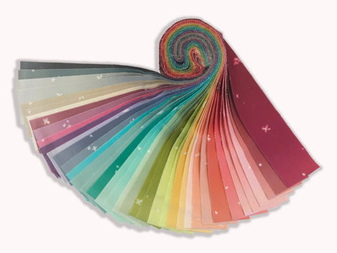 "Moda 40 Piece Pre-Cut 2 1/2"" Strips Jelly Roll - Ombre Bloom"