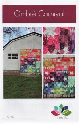 OMBRE CARNIVAL - V and Co. Quilt Pattern VC1262