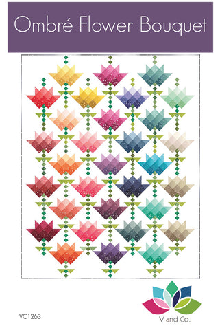 OMBRE FLOWER BOUQUET - V and Co. Quilt Pattern VC1263