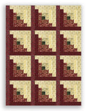 Moda Winter Christmas PRE-CUT 12 Block Log Cabin Quilt Kit - Once Upon a Memory
