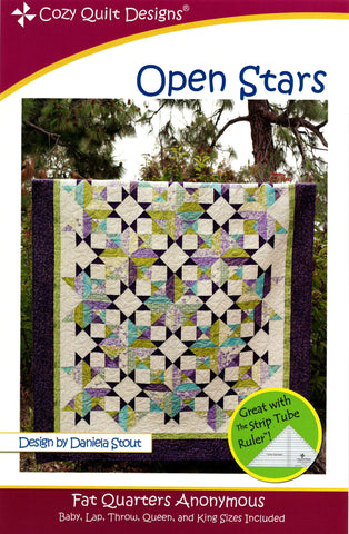 OPEN STARS - Cozy Quilt Designs Pattern
