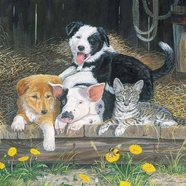 Riley Blake Barnyard Friends P9321 Buddies 1 Yard PANEL By The PANEL (not strictly by the yard)