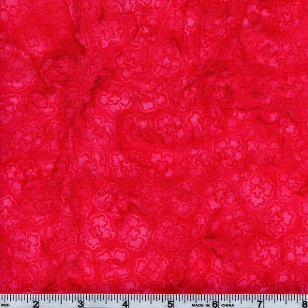 Hoffman Bali Batik PNK 5000 French Rose Daisies The Yard