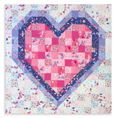 "Matt's Hand Cut Quilt Kit - All Of My Heart - Once Upon a Time Princess 72x72"" Quilt Bundle with Pre-Cut Pieces AND Doll Panel!"