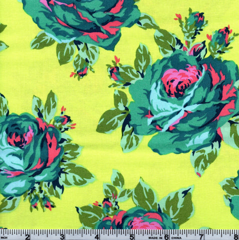 Free Spirit Amy Butler Eternal Sunshine PWAB160 Rose Lore Lemon By The Yard