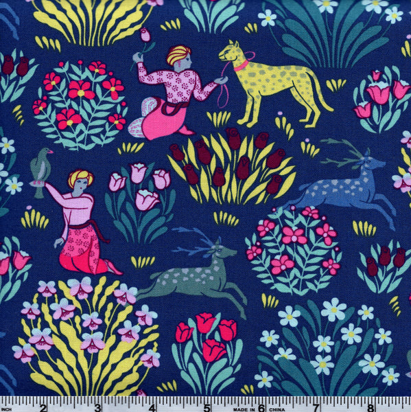 Free Spirit Amy Butler Splendor PWAB165 Forest Friends Midnight By The Yard