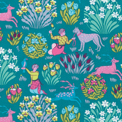 Free Spirit Amy Butler Splendor PWAB165 RIVER Blue Forest Friends By The Yard