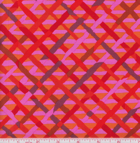 Free Spirit Kaffe Fassett Collective PWBM037 Redxx Mad Plaid By The Yard