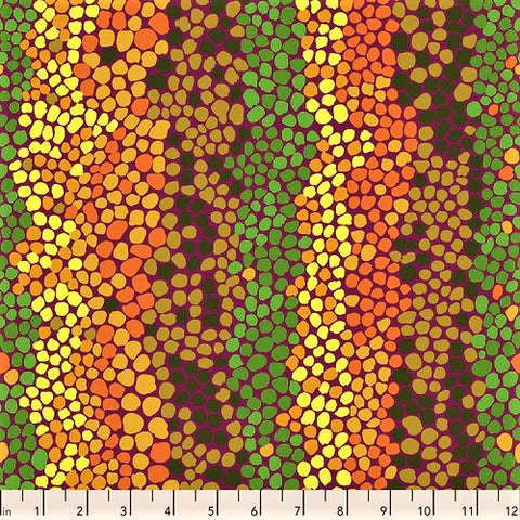 Free Spirit Kaffe Fassett Collective PWBM042 Jungle Pebble Mosaic By The Yard