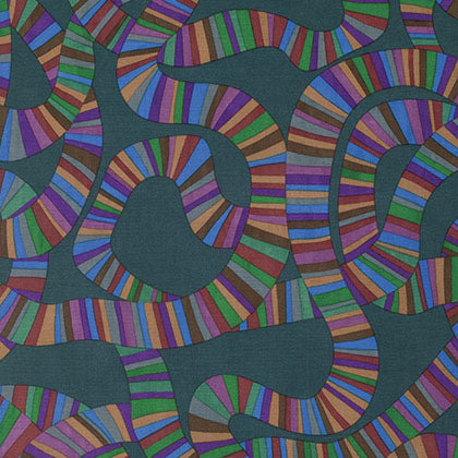 Rowan Fabrics Brandon Mably PWBM049 Charcoal Roller Coaster By The Yard