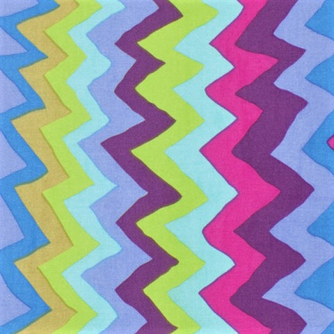Free Spirit Kaffe Fassett Collective PWBM062 BlueX Sound Waves By The Yard