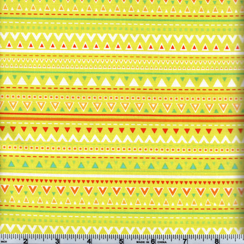 Free Spirit Dena Designs Happi Horses PWDF223 Yellow Triangle Stripes By The Yard