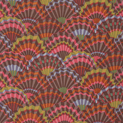 Free Spirit Kaffe Fassett PWGP143 Brown Paper Fans By The Yard