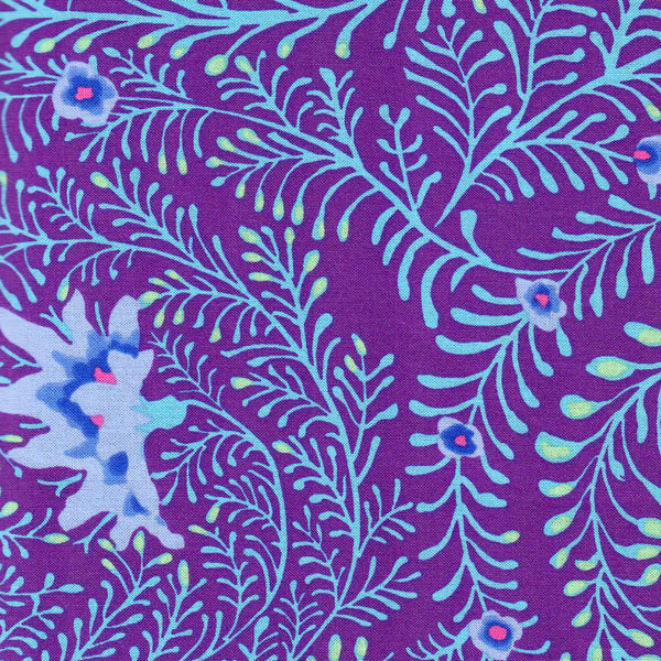 Free Spirit Kaffe Fassett Collective PWGP147 Purple Ferns By The Yard