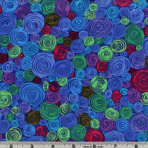 Free Spirit Kaffe Fassett PWGP158 Blue Rolled Paper By The Yard