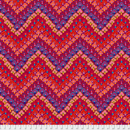 Free Spirit Kaffe Fassett PWGP167 Red Trefoil By The Yard