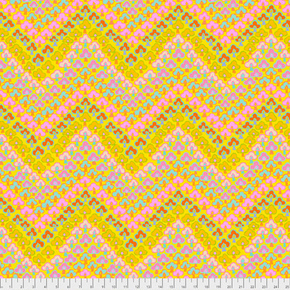 Free Spirit Kaffe Fassett PWGP167 Yellow Trefoil By The Yard