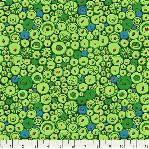 Free Spirit Kaffe Fassett Collective PWGP182 Green Button Mosaic By The Yard