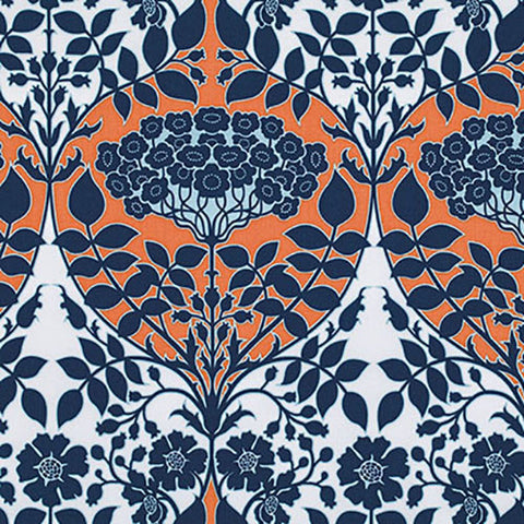 Free Spirit Joel Dewberry Botanique Leafy Damask PWJD088 Apricot By The Yard