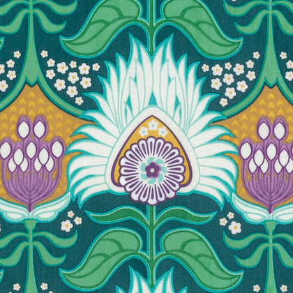Free Spirit Joel Dewberry Modernist PWJD136 Peacock Aurora By The Yard
