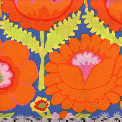 Free Spirit Kaffe Fassett Artisan PWKF001 Orange Embroid Flower Border By The Yard