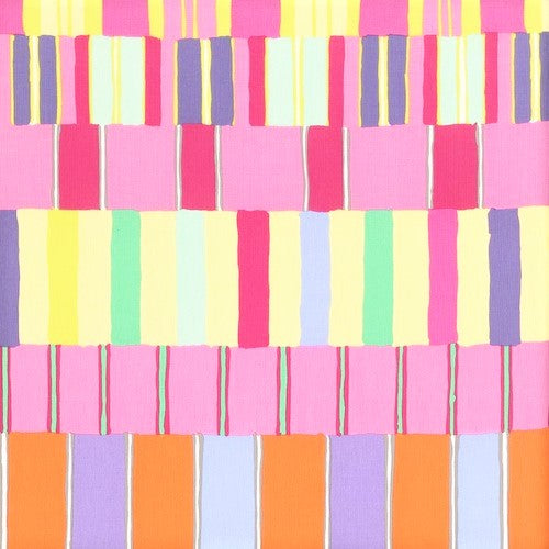 Free Spirit Kaffe Fassett Collective PWKF003 PinkX Layered Stripe By The Yard