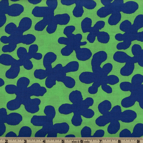 Free Spirit Kaffe Fassett Artisan PWKF005 Green Squiggle Flowers By The Yard