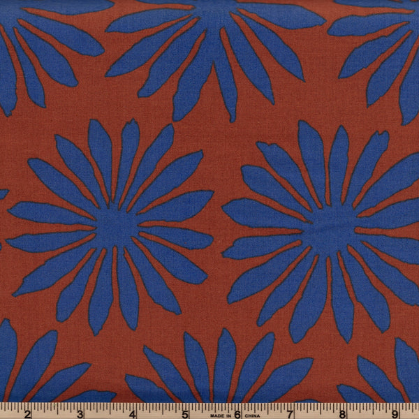 Free Spirit Kaffe Fassett Artisan PWKF006 Brown Gerbera Daisy By The Yard
