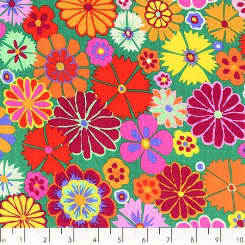 Free Spirit Kaffe Fassett Collective PWKF007 Multi Folk Flower By The Yard