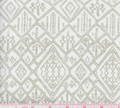 Free Spirit Parson Gray PWPG036 Decorative Square Patterns on White by the yard