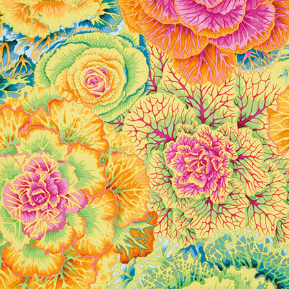 Free Spirit Kaffe Fassett Collective PWPJ051 Yellow Brassica By The Yard