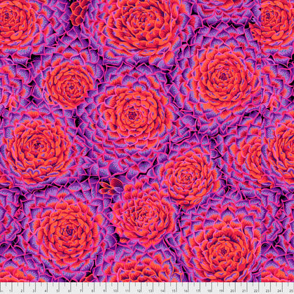 Free Spirit Fabrics Kaffe Fassett Collective Philip Jacobs PWPJ091 Red Large Succulent By The Yard