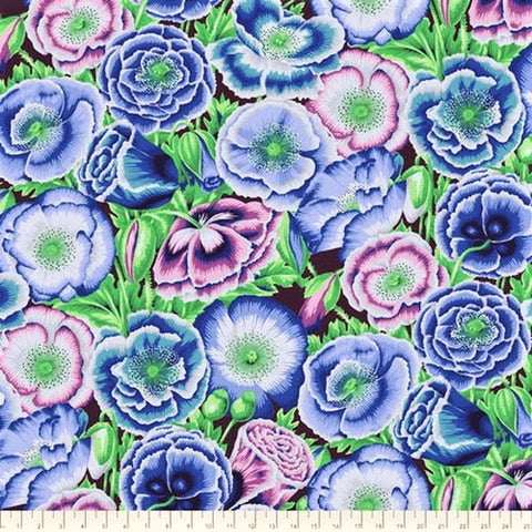 Free Spirit Fabrics Kaffe Fassett Collective PWPJ095 Blue Poppy Garden By The Yard