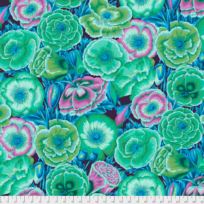 Free Spirit Fabrics Kaffe Fassett Collective PWPJ095 Green Poppy Garden By The Yard