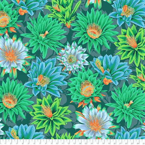 Free Spirit Kaffe Fassett Collective PWPJ096 Green Cactus Flower By The Yard