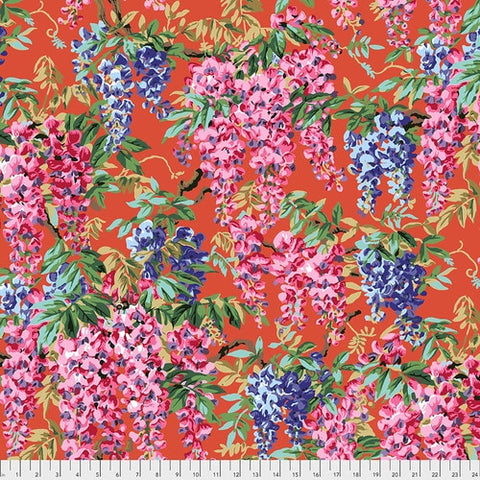 Free Spirit Kaffe Fassett Collective PWPJ 102 Wisteria - Red By The Yard