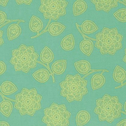Free Spirit Eden PWTP074 Aqua Henna Floral By The Yard