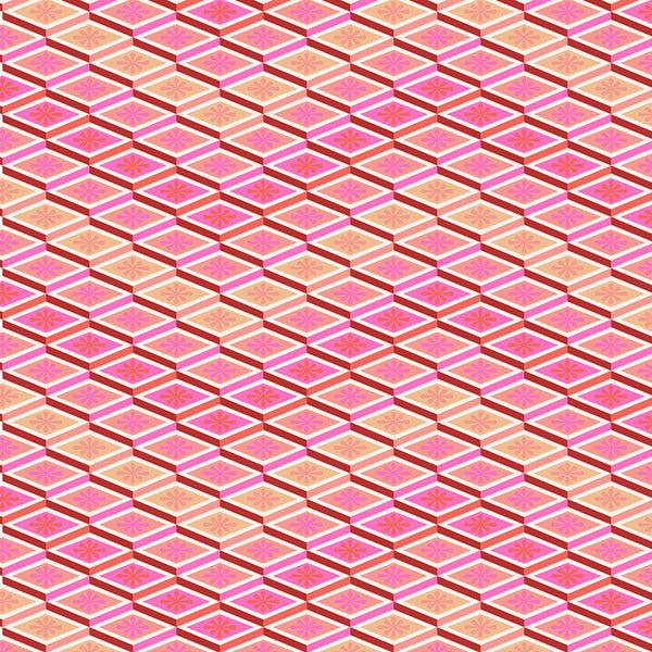 Tula Pink for Free Spirit Eden 075 Labyrinth Peach Fuzz by the yard
