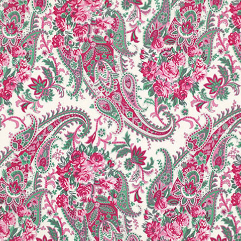 Free Spirit Verna Mosquera Billet Doux Floral Paisley PWVM094 Cream By The Yard
