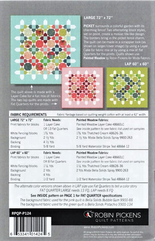 PICKET - Robin Pickens Quilt Pattern