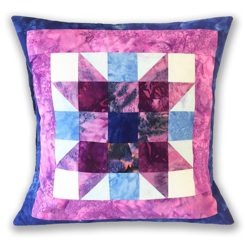 Hoffman Bali Batik Pre-cut Sister's Choice Pillow Kit - Stained Glass