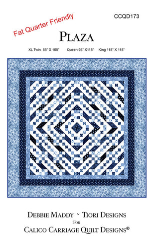 PLAZA - Calico Carriage Quilt Designs Pattern CCQD173 DIGITAL DOWNLOAD