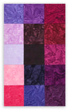 Robert Kaufman Artisan Batiks Pre-Cuts 15 Fat Quarters - Plum Perfect FQ830 15