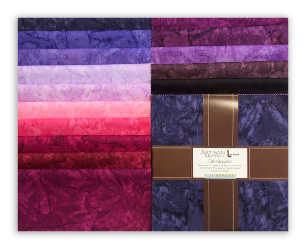"Kaufman Batik Pre-Cuts Ten Squares 42 - 10"" Squares 226 42- Plum Perfect"