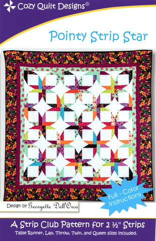 POINTY STRIP STAR - Cozy Quilt Designs Pattern