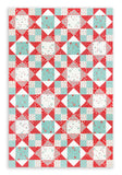 Moda Valentine's Day Quilt Pre-Cut 12 Block King's Crown Quilt Kit - Project Red